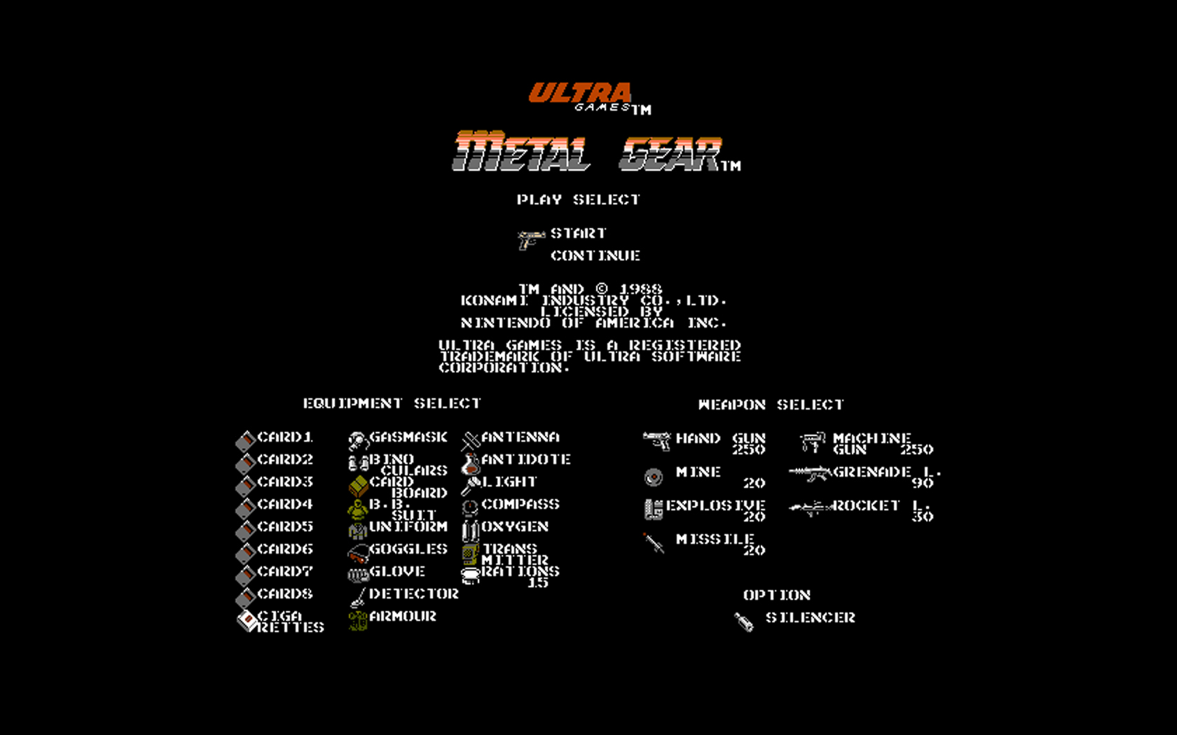 Metal Gear Background Image. There is also a widescreen 1680 x 1050 version.